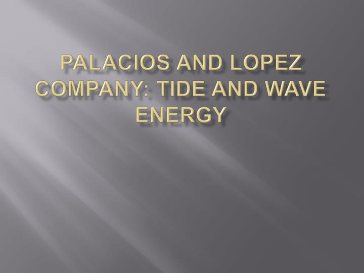 palacios and lopez company tide and wave energy n.