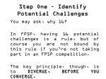 step one identify potential challenges1