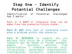 step one identify potential challenges4