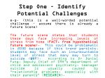 step one identify potential challenges5