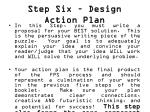 step six design action plan