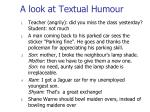 a look at textual humour