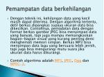 pemampatan data berkehilangan