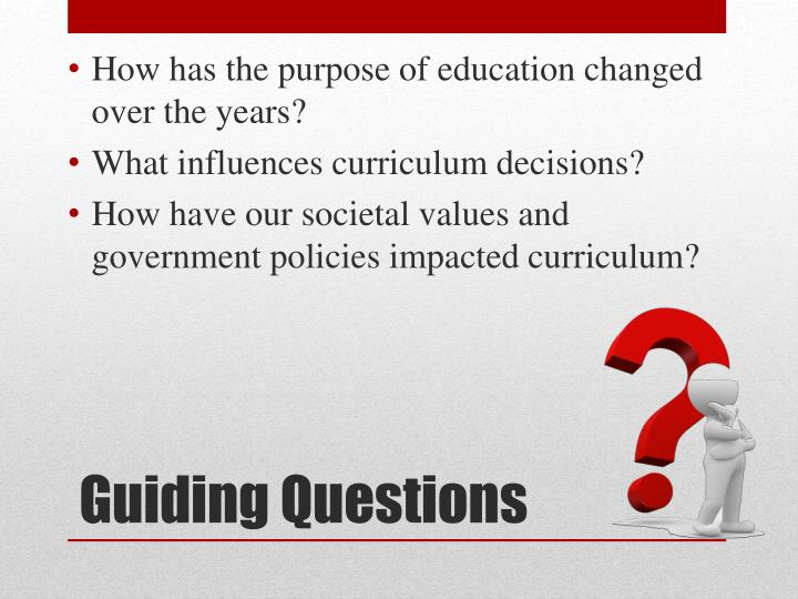 How has the purpose of education changed over the years?