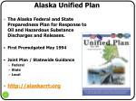 alaska unified plan