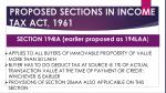 proposed sections in income tax act 1961