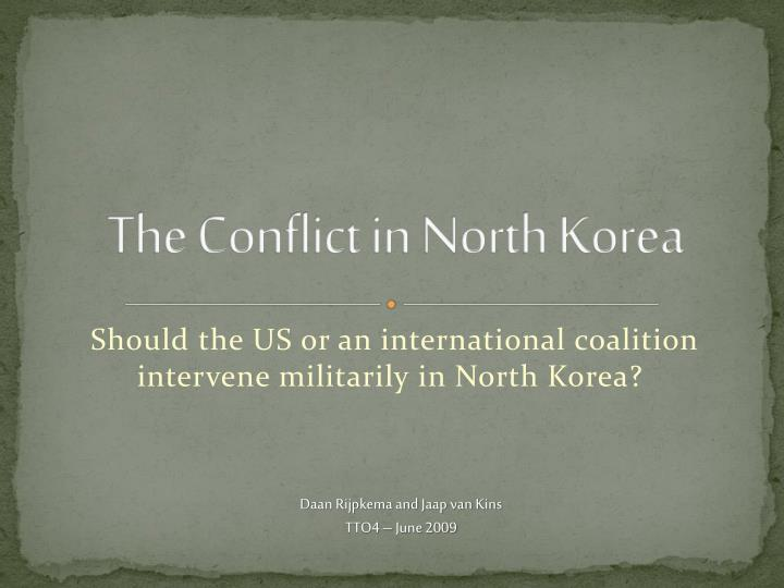 the conflict in north korea n.