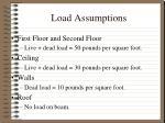 load assumptions