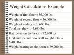 weight calculations example2