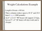 weight calculations example4