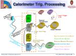 calorimeter trig processing