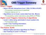 cms trigger summary