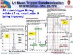 l1 muon trigger synchronization bx id efficiency csc dt rpc