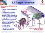 l1 trigger locations