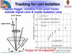 tracking for jet isolation