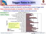 trigger rates in 2011