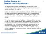 nuclear energy act detailed safety requirements