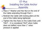 et plus installing the cable anchor assembly2