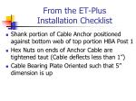 from the et plus installation checklist1