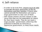 4 self reliance