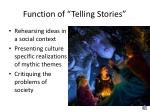function of telling stories