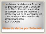 base de datos por internet