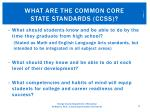 what are the common core state standards ccss