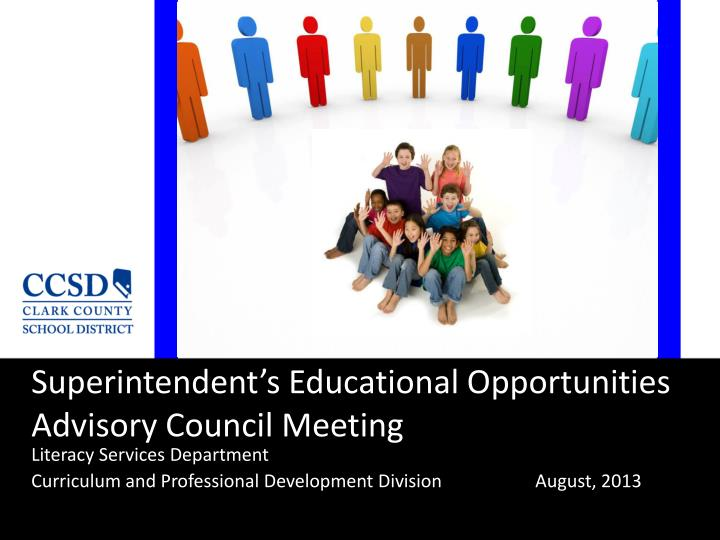 superintendent s educational opportunities advisory council meeting n.