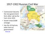 1917 1922 russian civil war