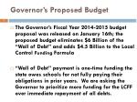 governor s proposed budget