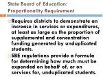 state board of education proportionality requirement