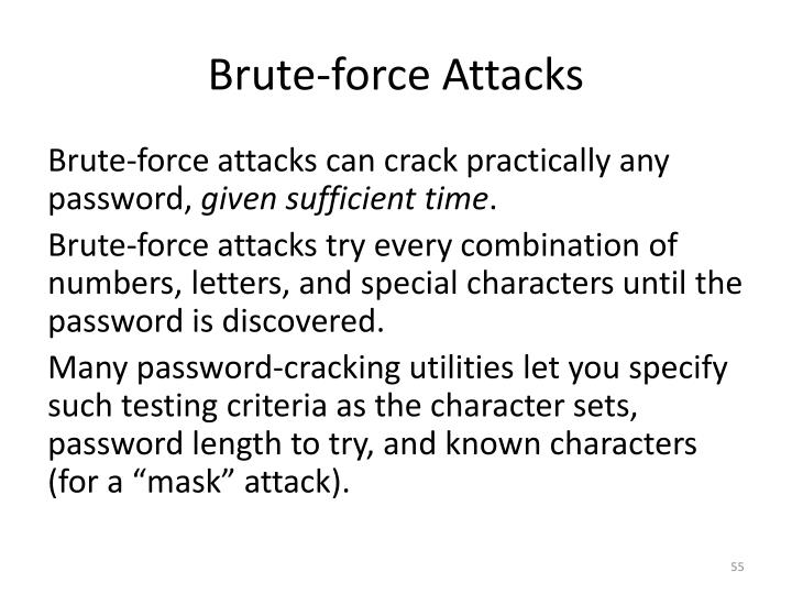 Brute-force Attacks
