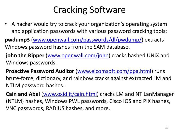 Cracking Software