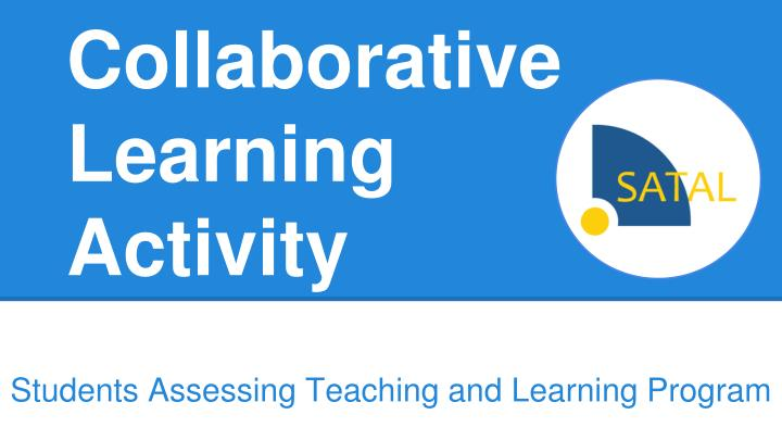 collaborative learning activity n.