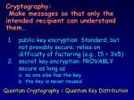 cryptography make messages so that only the intended recipient can understand them
