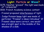 light particle or wave