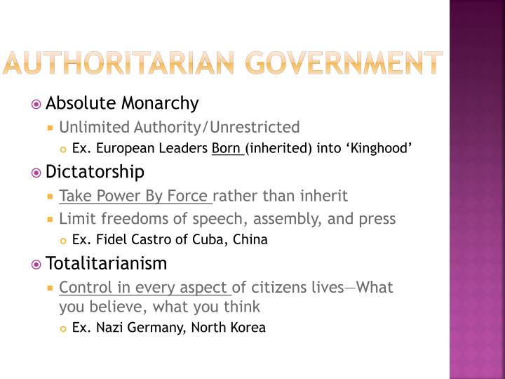 Authoritarian Government