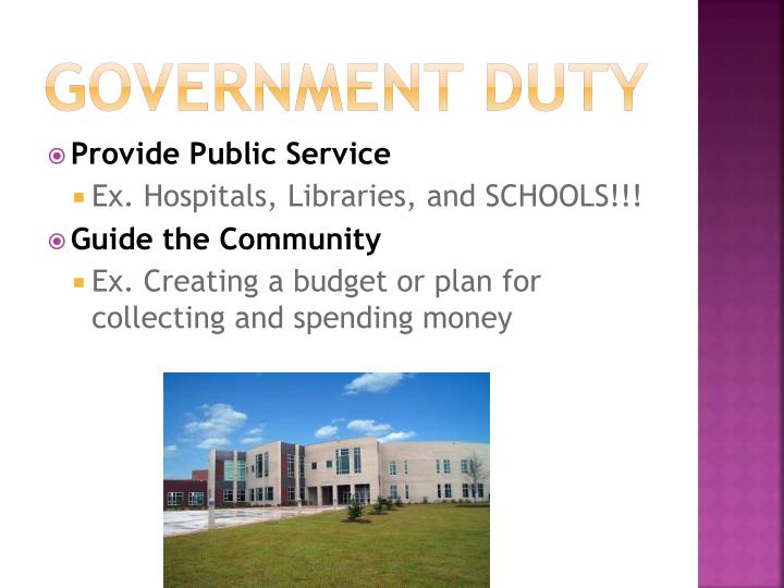 Government Duty