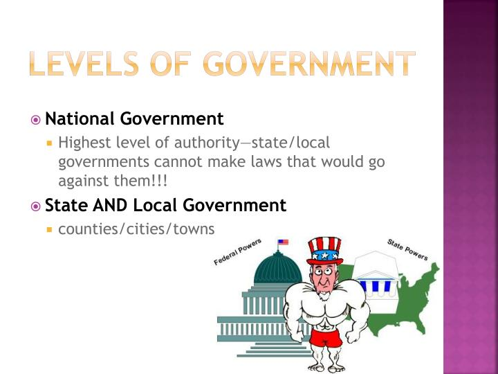 LEVELS of government