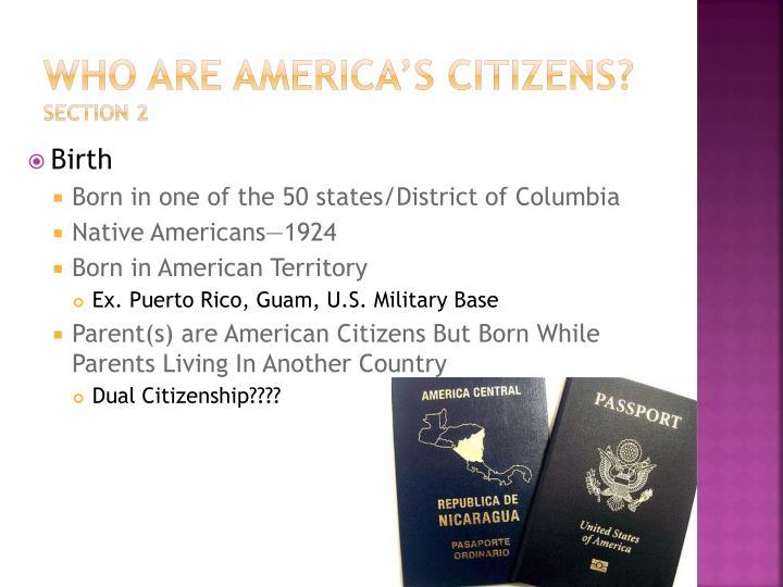 Who are America's Citizens?