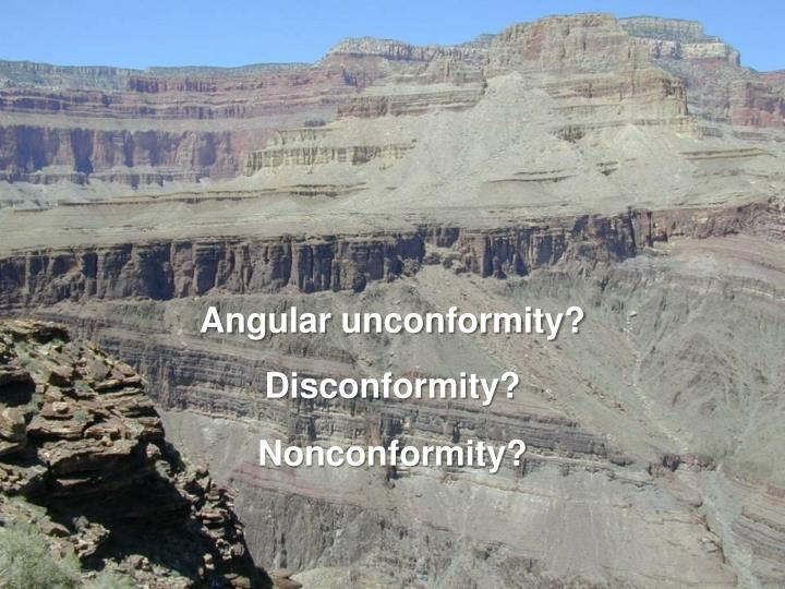 Angular unconformity?