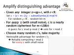 amplify distinguishing advantage1