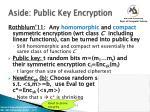 aside public key encryption