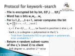 protocol for keywork search