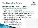 the hamming weight