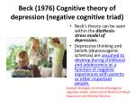 beck 1976 cognitive theory of depression negative cognitive triad3