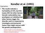 kendler et al 19911