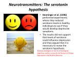 neurotransmitters the serotonin hypothesis4