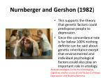 nurnberger and gershon 19821