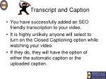 transcript and caption22